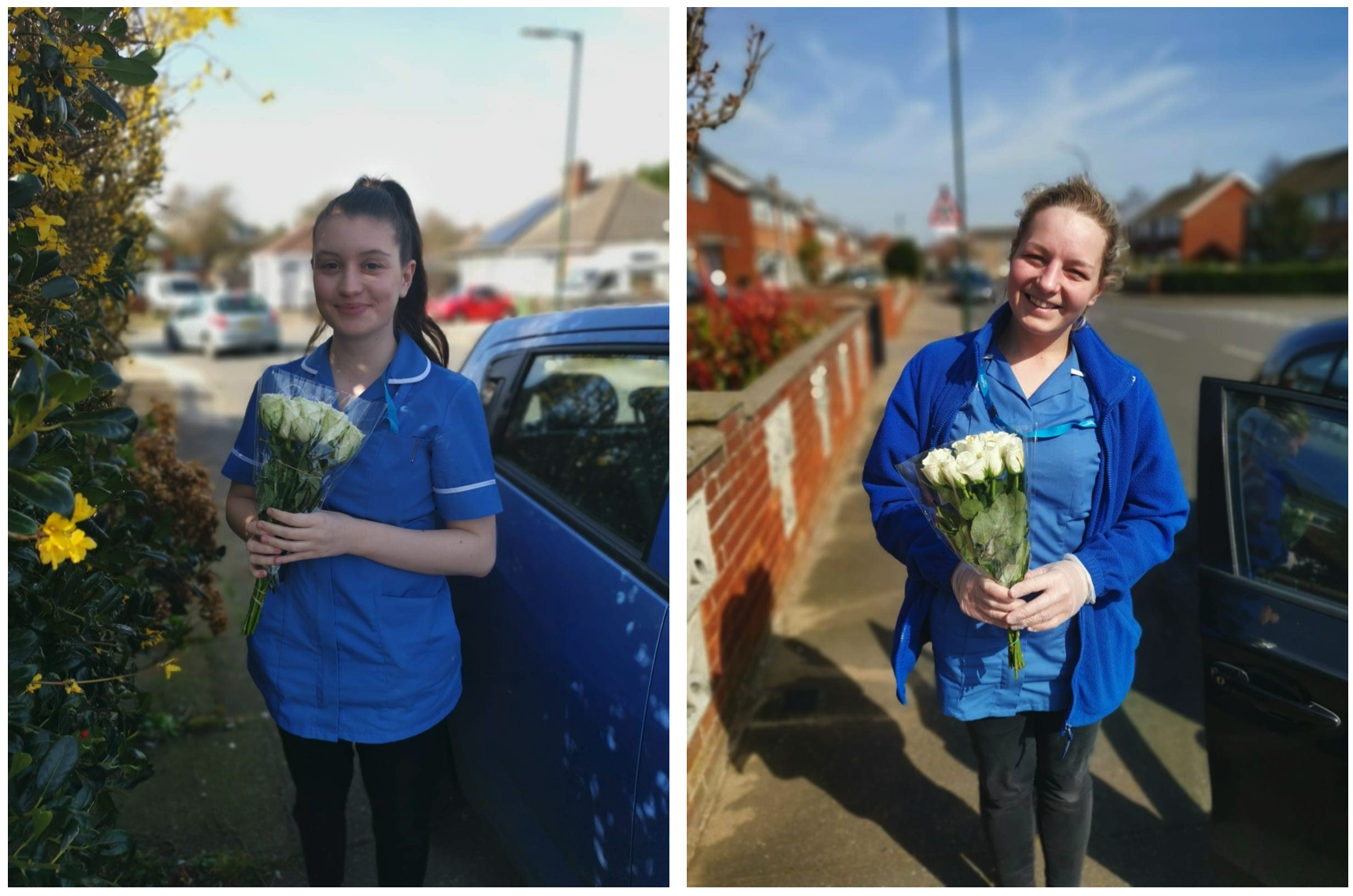 Tesco in Cleethorpes donates flowers to care assistants