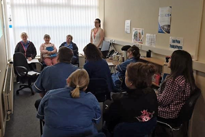 Dementia training session at Bluebird Care Coleraine
