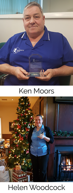 Ken and Helen pictured with their awards