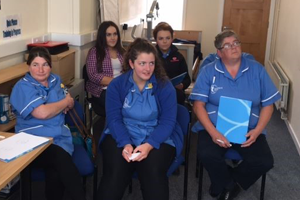 Coleraine team in dementia training session