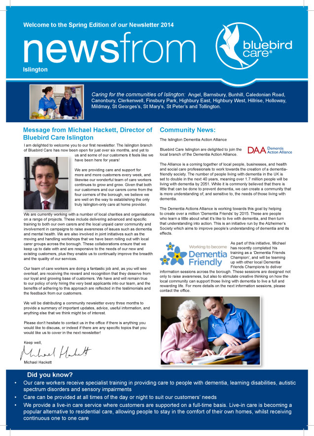 Islington Newsletter