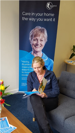 Bluebird Care Exmouth receiving letters for customers
