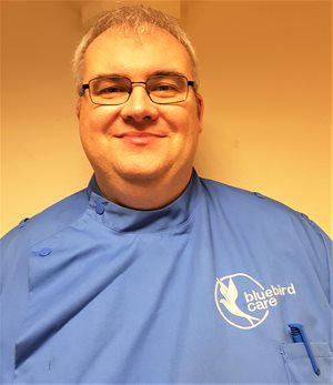 Tony McNamara as a Care Assistant at Bluebird Care