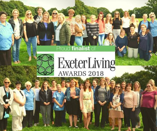 Bluebird Care teams in Exeter Living Awards