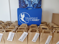Bluebird Care Cheshire West & Chester creating care packages for their team