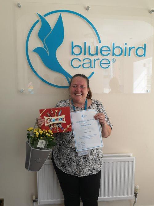 Congratulations - Tracy Poulson!   Home Care Services   Bluebird Care Maldon