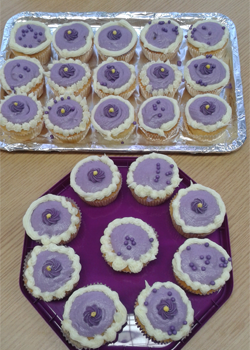Make may purple cakes
